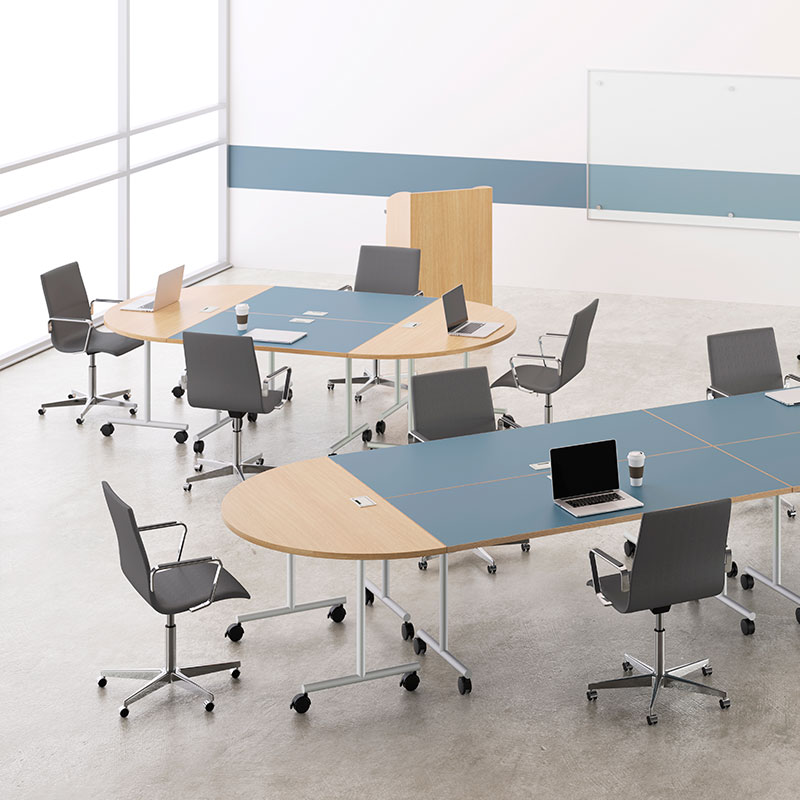 movable conference room tables on wheels