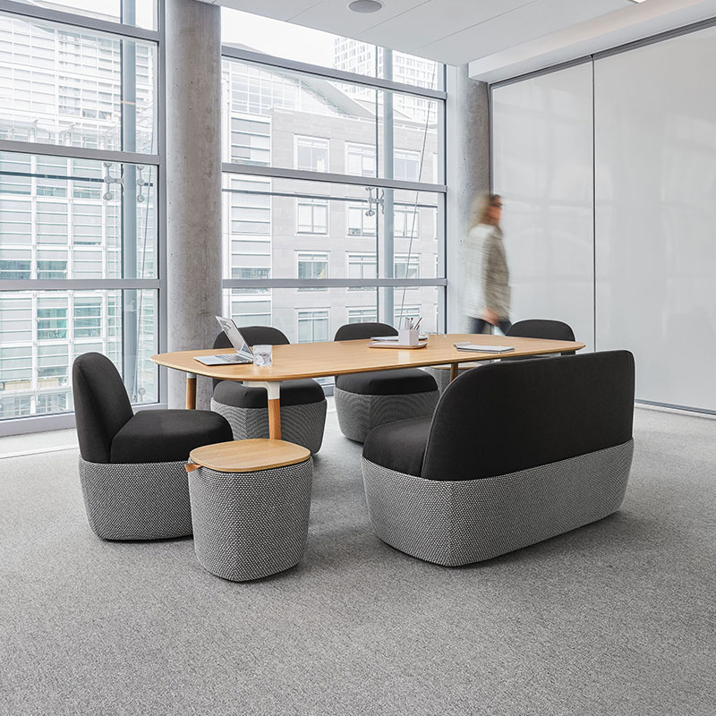 cool conference table with lounge chairs modern