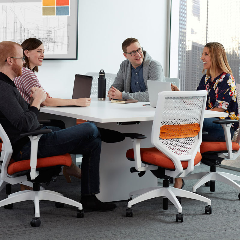 white conference room furniture