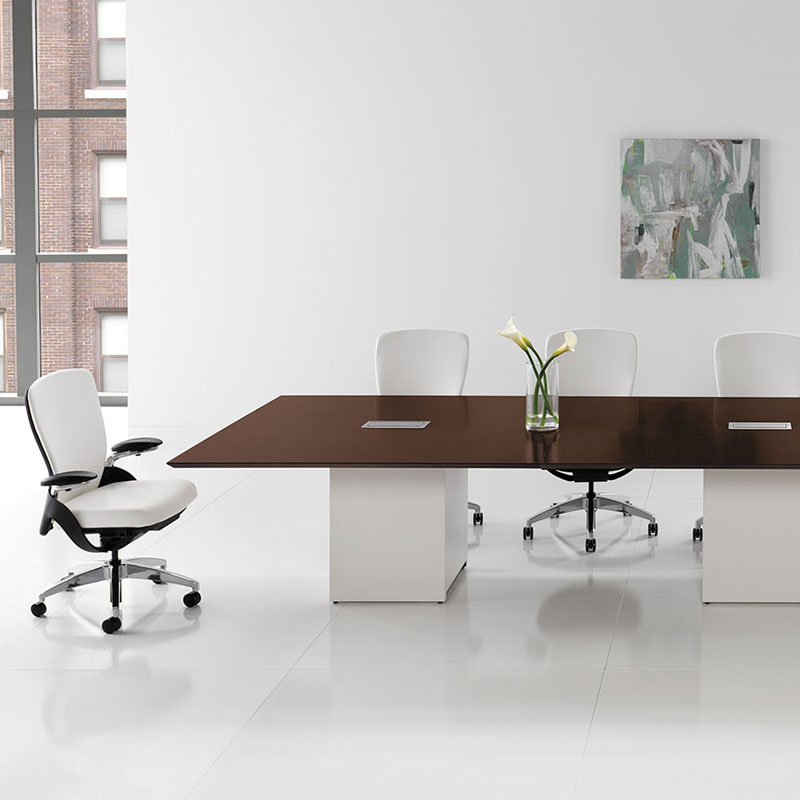 large white conference table