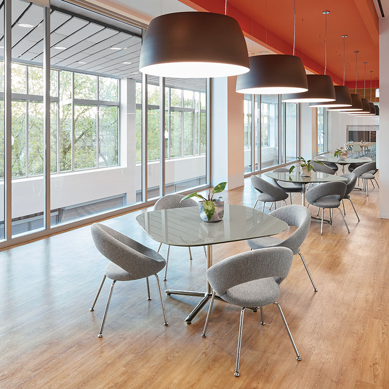modern office cafe table and chairs