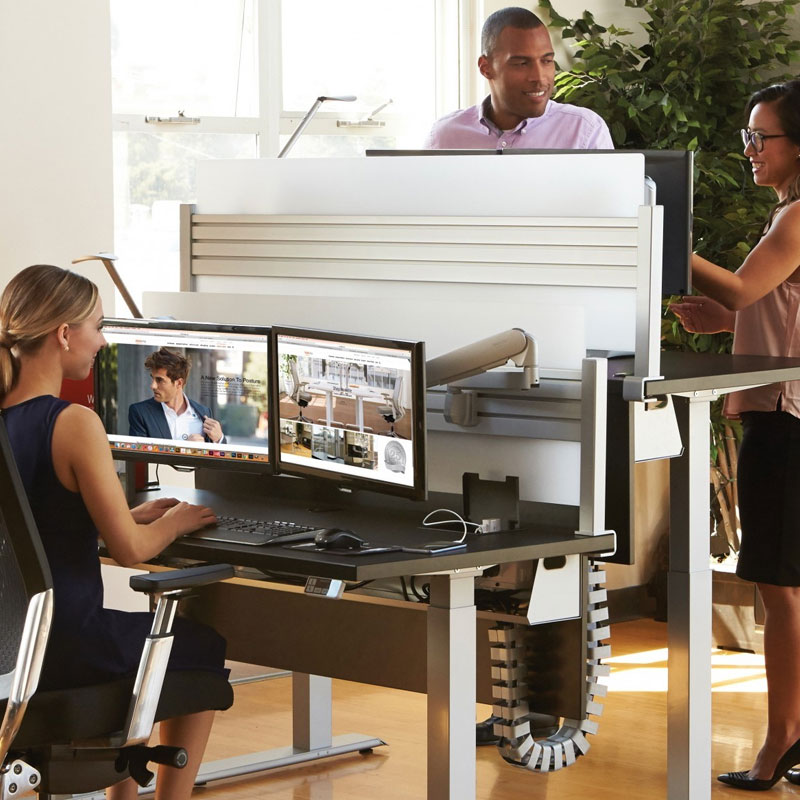 sit stand desks ergonomic office furniture