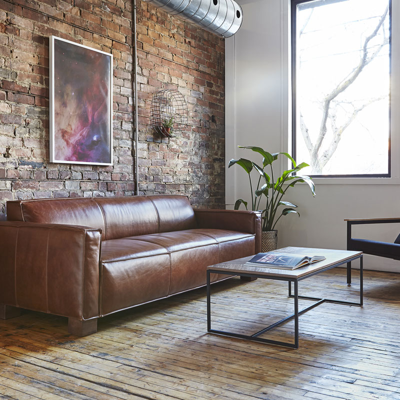leather sofa for office los angeles