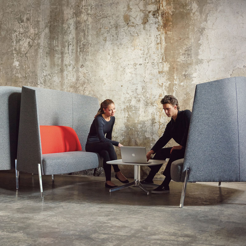 high back sofas and table for meeting