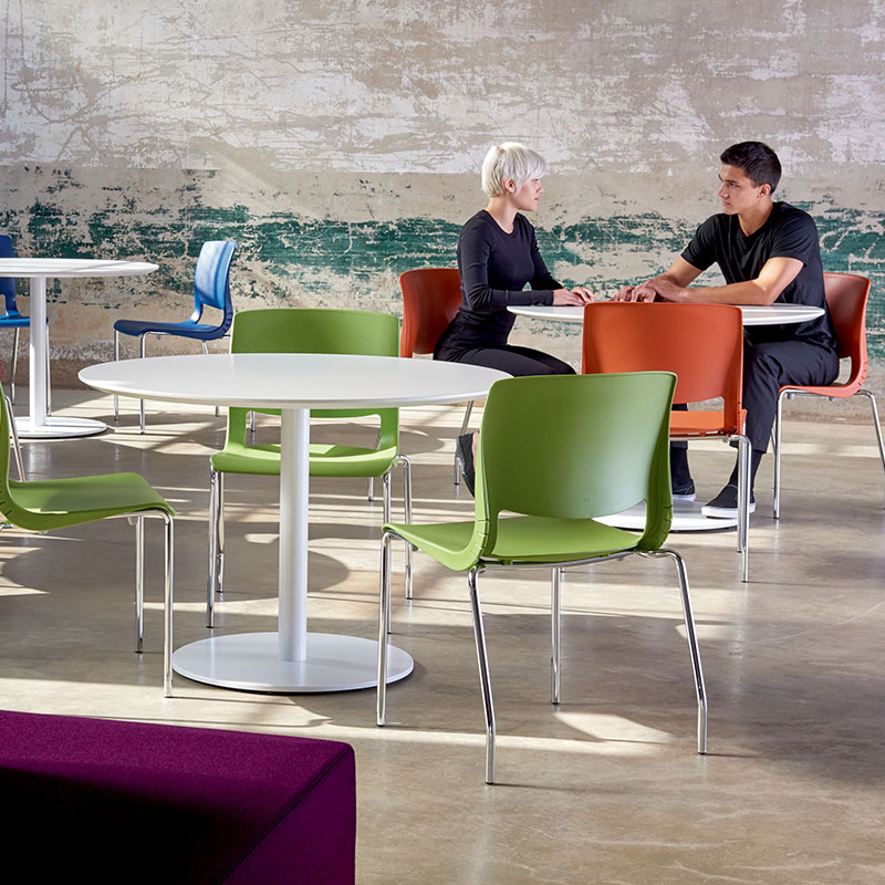 colorful plastic stack chair for office breakroom