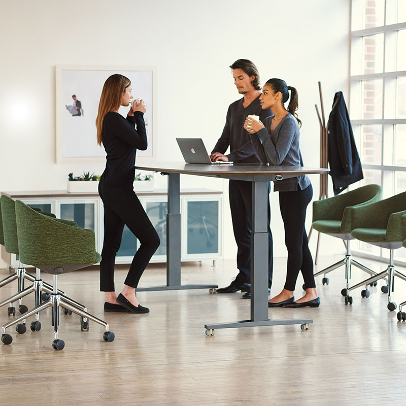 height adjustable meeting tables for office