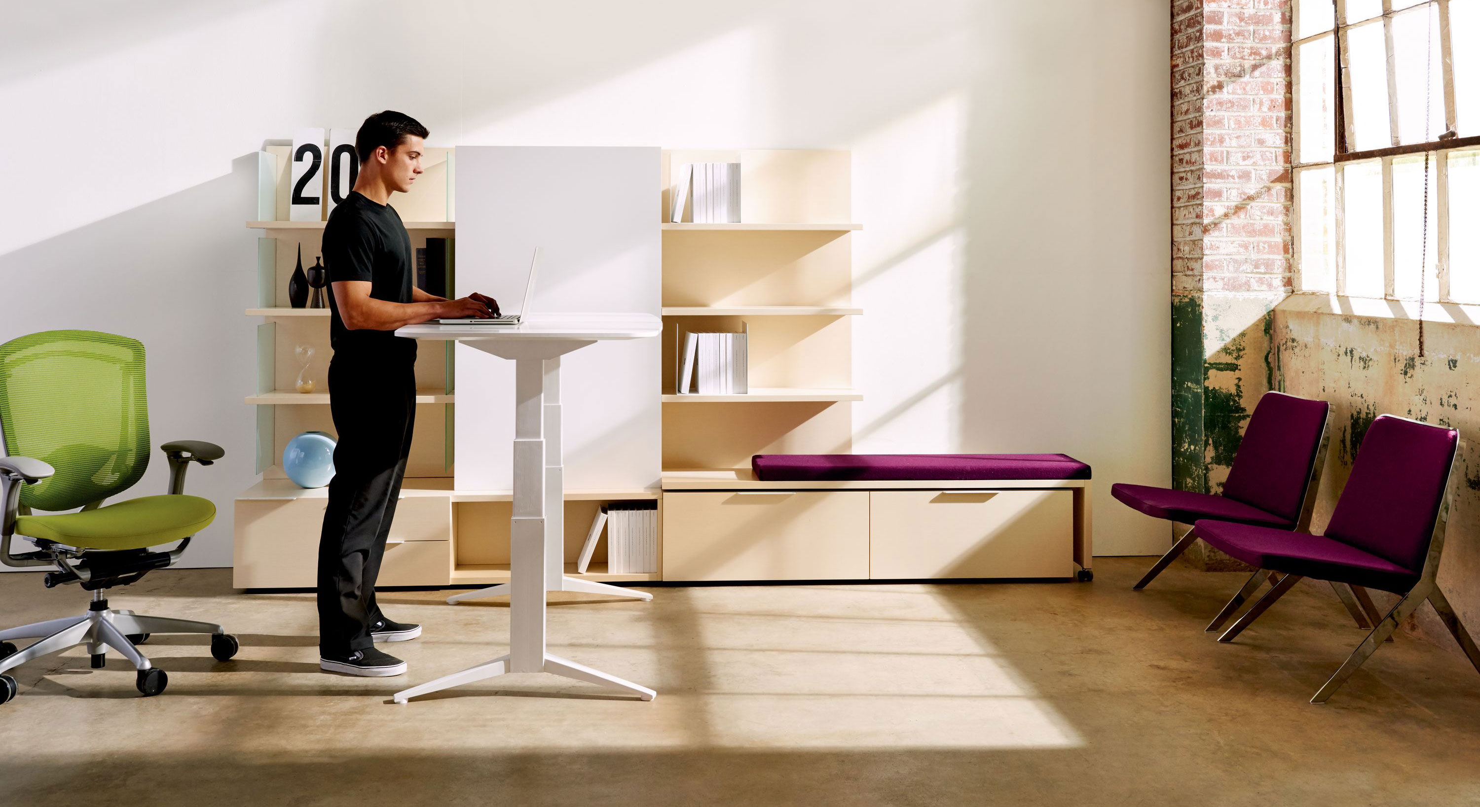 standing height desk